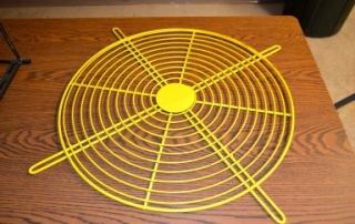Yellow Fan Guard Wire Formed Metal