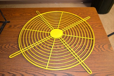 Yellow Fan Guard Wire Formed Metal