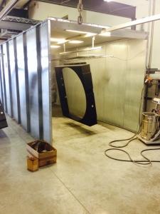 Powder Coating Industrial Equipment Black